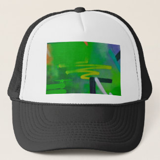 abstract shapes paint background trucker hat
