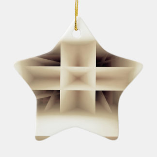 Abstract shapes pattern christmas ornament