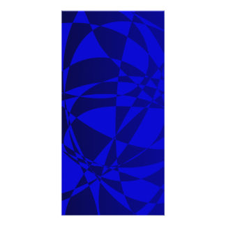Abstract Shattered Blue Glass Photo Cards
