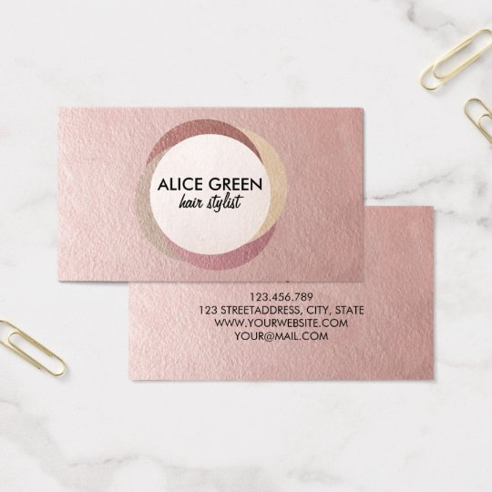 Abstract shiny circles business card