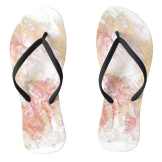 Abstract shiny colors flip flops