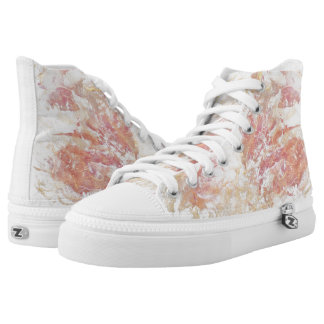 Abstract shiny colors high tops