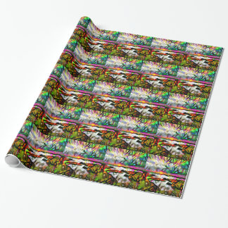 Abstract shore wrapping paper