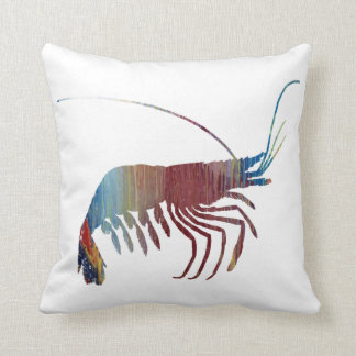 Abstract Shrimp silhouette Cushion
