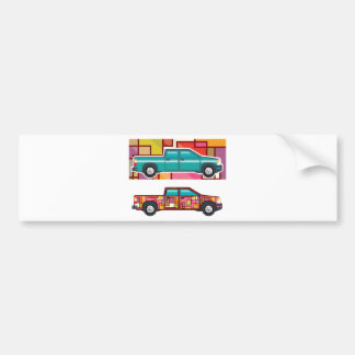 Abstract shrink wrapped pickup truck Vector Bumper Sticker