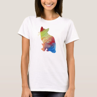 Abstract Siamese Cat silhouette T-Shirt