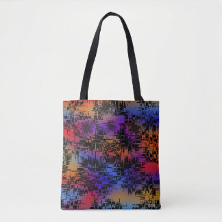 Abstract Silhouette City Sunset Tote Bag