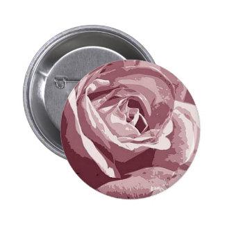 Abstract Silk Granite Rose Illustration Design 6 Cm Round Badge