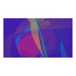 Abstract Silkscreen Emulation Dark Blue Business Cards