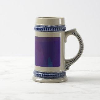Abstract Silkscreen Emulation Dark Blue Coffee Mug