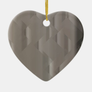 Abstract Silver Background Ceramic Heart Decoration