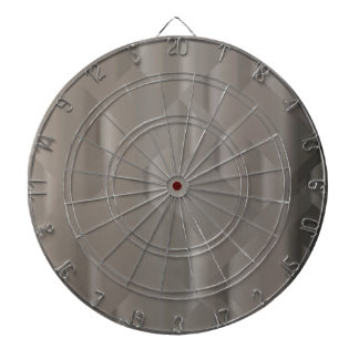 Abstract Silver Background Dartboard