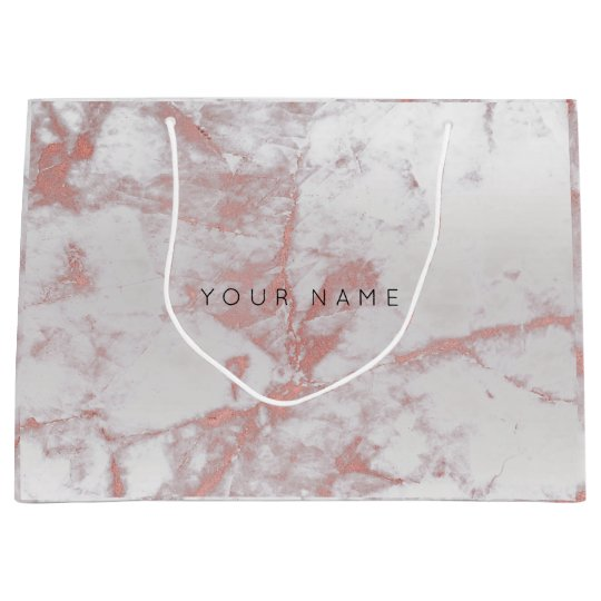 Abstract Silver Blush Marble Metallic Pink Rose Large