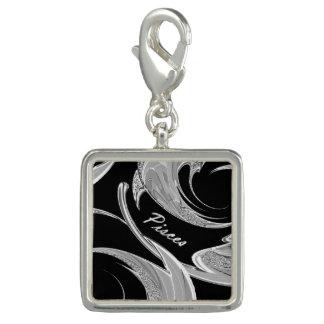 Abstract Silver Pisces Zodiac