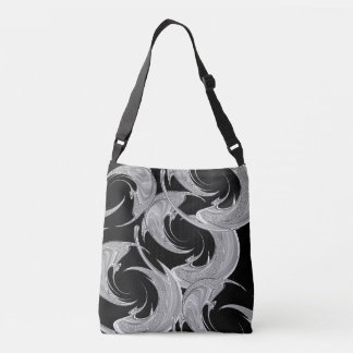 Abstract Silver Pisces Zodiac Crossbody Bag