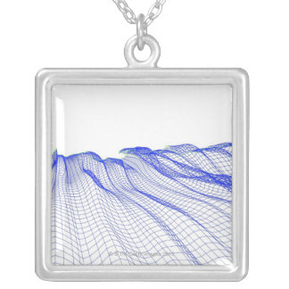 Abstract Silver Plated Necklace