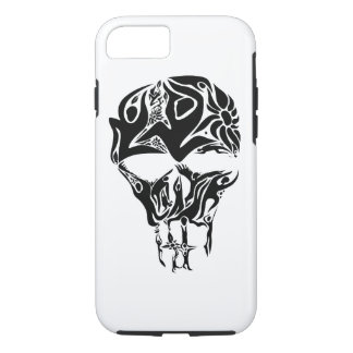 Abstract Skull Art formed by people and flower iPhone 8/7 Case