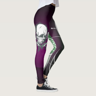 Abstract Skull Design Leggings