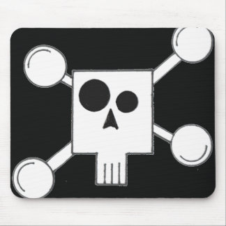 Abstract skull mouse pad
