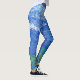 Abstract Sky & Land Leggings