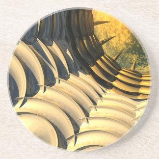 Abstract Sky Portal Coasters