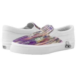 Abstract Slip-On Shoes