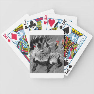 Abstract Small Dog Bicycle Playing Cards