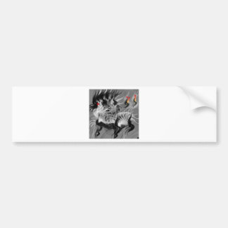 Abstract Small Dog Bumper Sticker