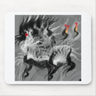 Abstract Small Dog Mouse Pad