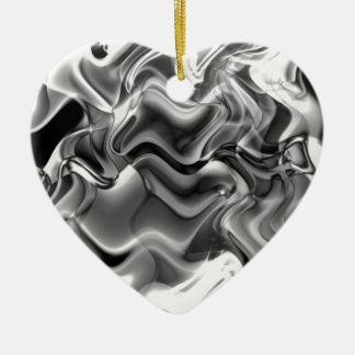 Abstract Smoke Art Christmas Ornament