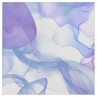 Abstract Smoke in purple Pinks and Blues Fabric