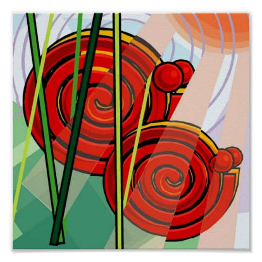 Abstract Snail Poster 15x15