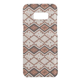 Abstract Snake-Skin Pattern in Brown & White Get Uncommon Samsung Galaxy S8 Plus Case