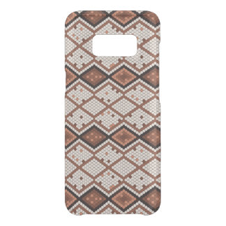 Abstract SnakeSkin Pattern in Brown & White Get Uncommon Samsung Galaxy S8 Case