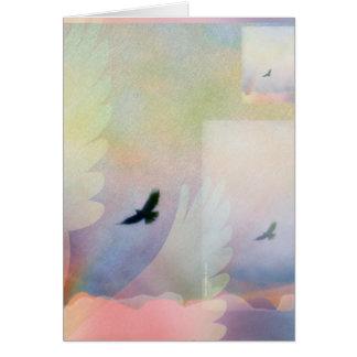 Abstract Soaring Hawk Card