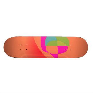 Abstract Soft Orange Skate Board