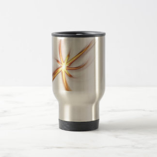 Abstract Solar Flare Stainless Steel Travel Mug