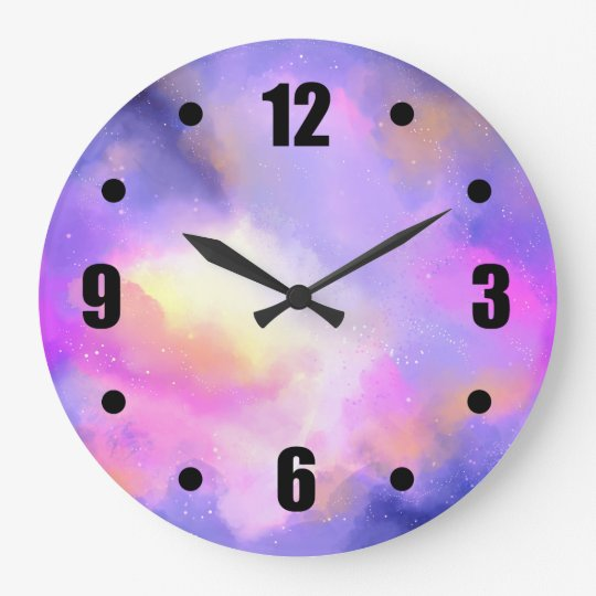 Abstract Space Design in Purple Pink and Yellow