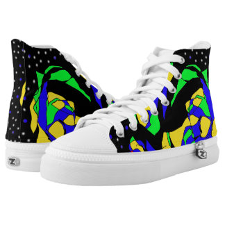 Abstract Space Printed Shoes