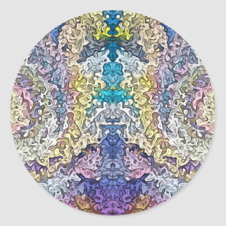 Abstract Spectral Symmetry 1 Round Sticker
