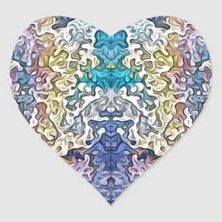 Abstract Spectral Symmetry 1 Heart Sticker