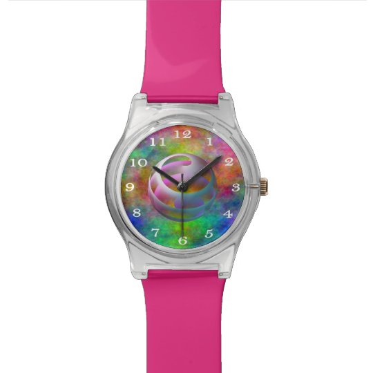 Abstract Sphere Rainbow Plasma Women's Wrist Watch