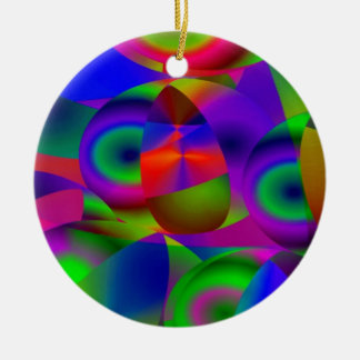 Abstract Spheres Double-Sided Ceramic Round Christmas Ornament
