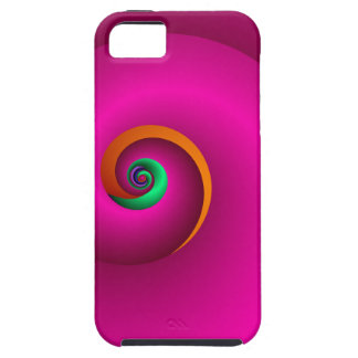 Abstract Spiral case-mate case Popping Pink