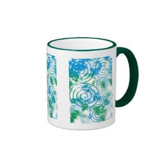 Abstract Spiral Coffee Mug Green