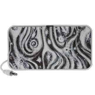 Abstract Spiral Galaxies (surrealism pattern) Portable Speaker