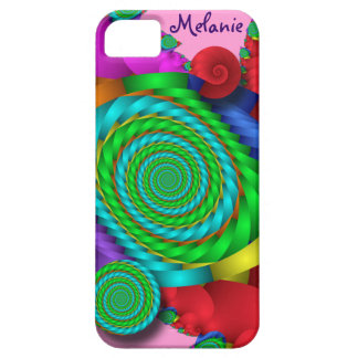 Abstract spiral iPhone 5 case-mate case with name