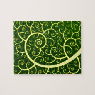 Abstract Spiral Jigsaw Puzzle