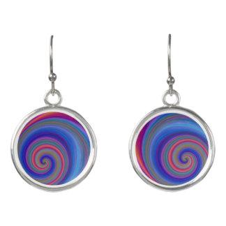 abstract spiral modern design earrings