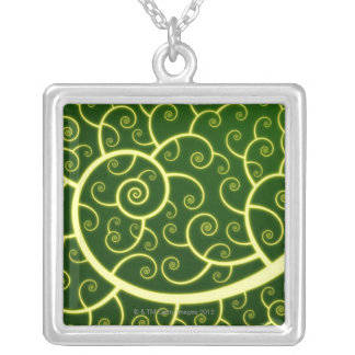 Abstract Spiral Silver Plated Necklace